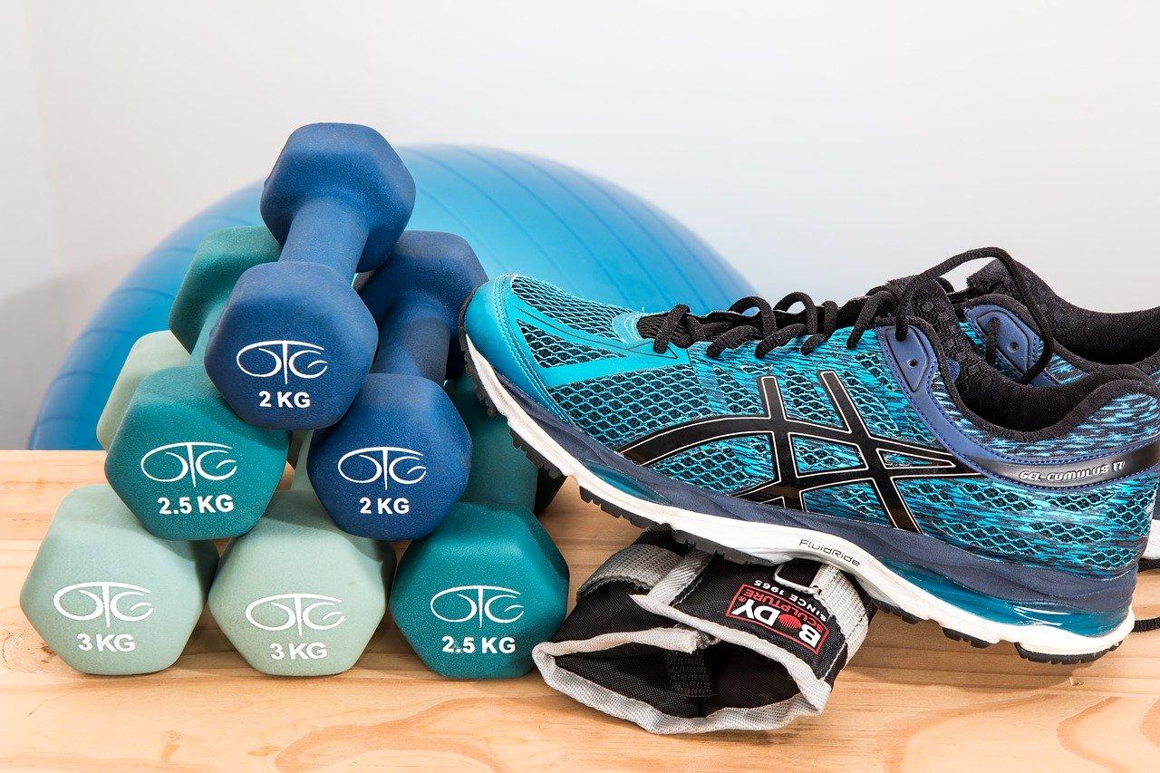 dumbbells, training, fitness